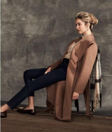 Tahari - Belted Long Coat