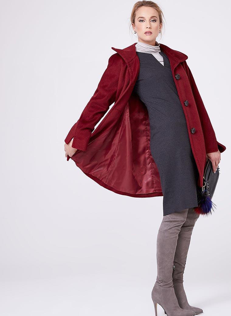 Ellen Tracy - Wool & Angora Blend Coat