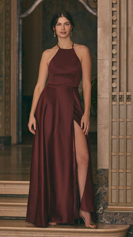 Cachet - Open Back Satin Dress