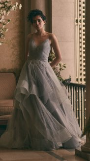 Terani Couture - V-Neck Glitter Ball Gown