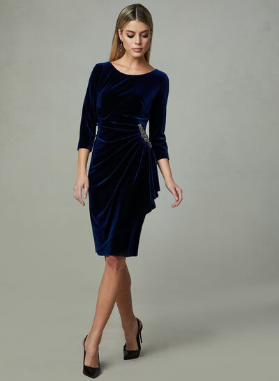 Alex Evenings - Ruched Velour Dress